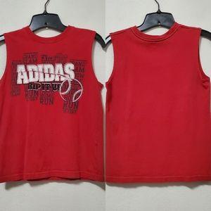 Adidas Boys Red Basketball Tank Top